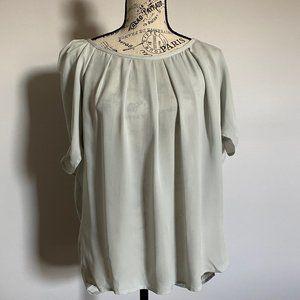 Joie, silk blouse, short sleeve, tied on back